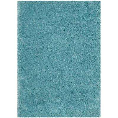 Polar Shag Light Turquoise 8 ft. x 10 ft. Area Rug