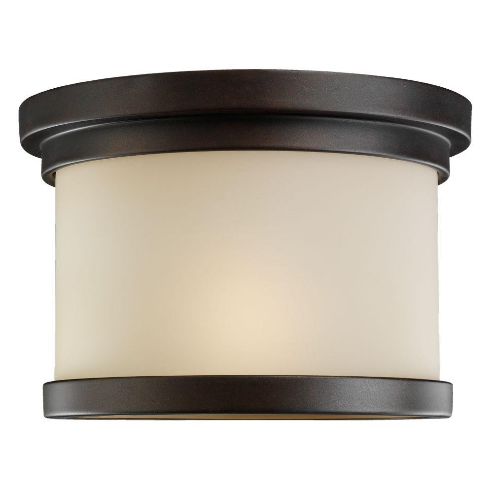Sea Gull Lighting Winnetka 1-Light Outdoor Misted Bronze Hanging/Ceiling Pendant Fixture