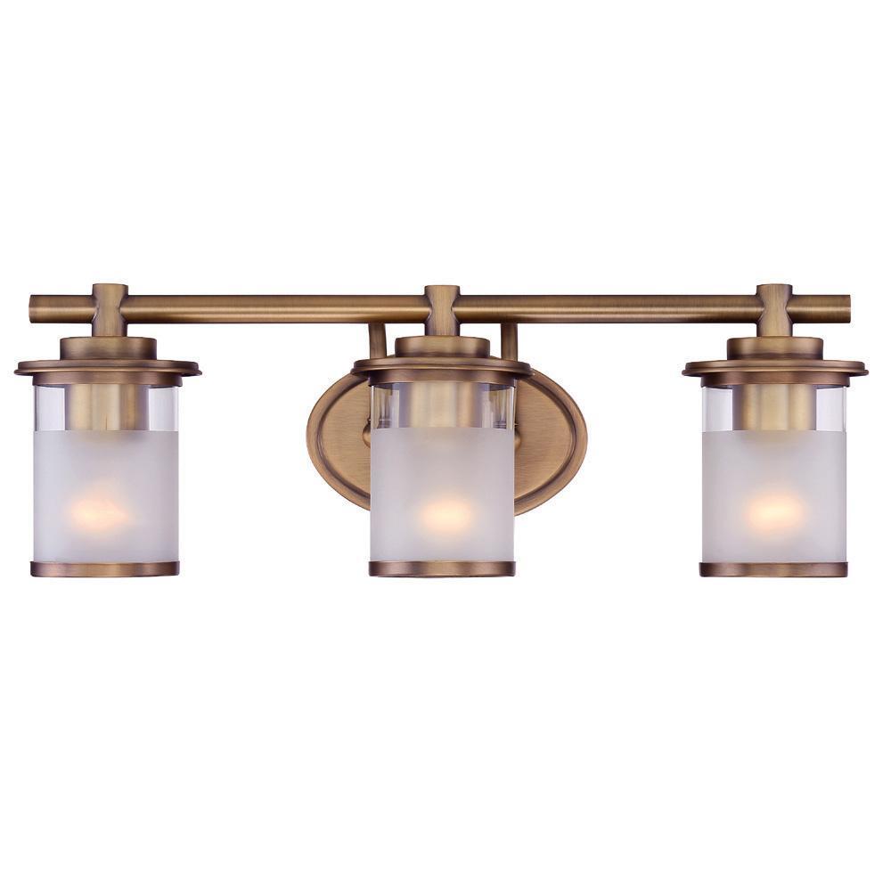 Essense 3-Light Old Satin Brass Interior Bath Vanity Light