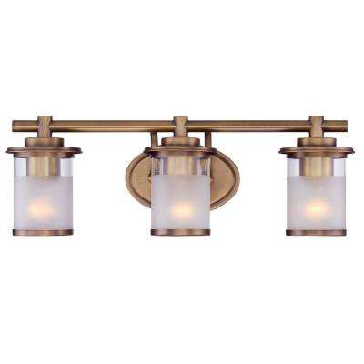 Essense 3-Light Old Satin Brass Interior Bath Vanity Light