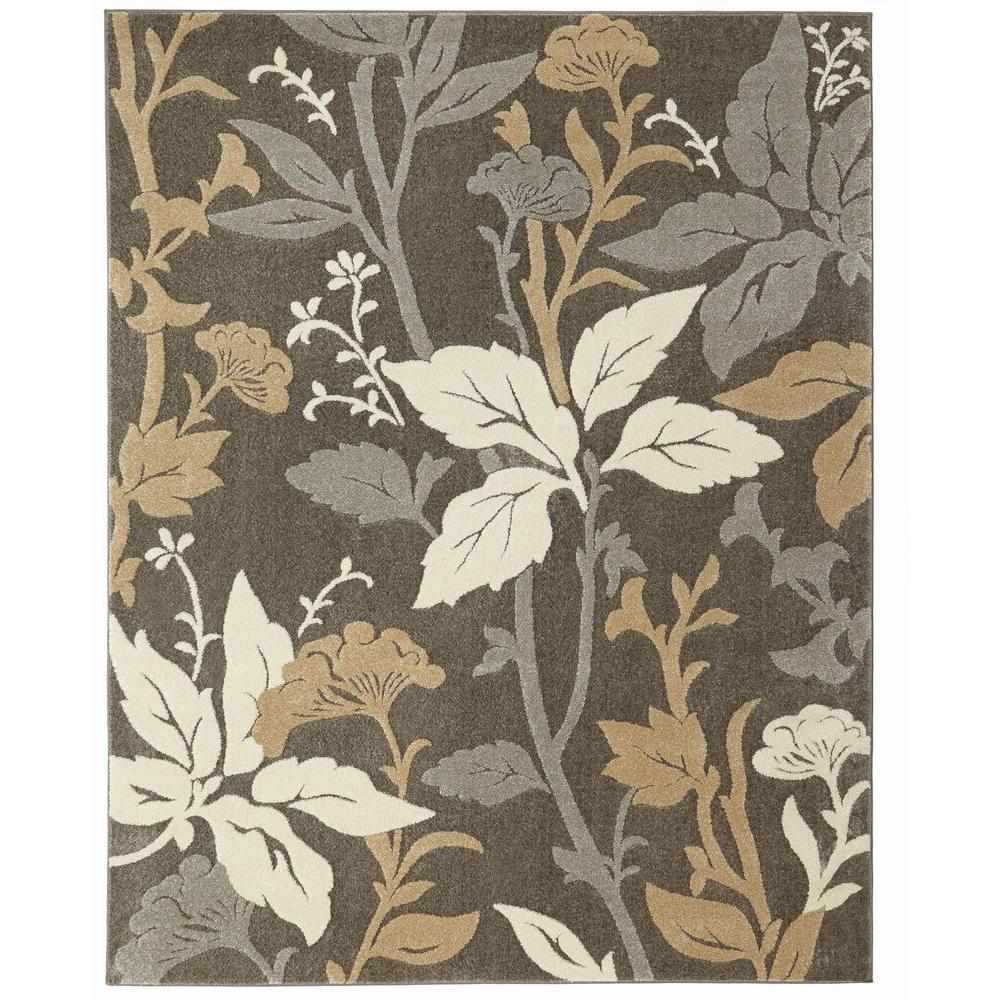 Home Decorators Collection Blooming Flowers Gray 8 Ft X 10 Ft Area