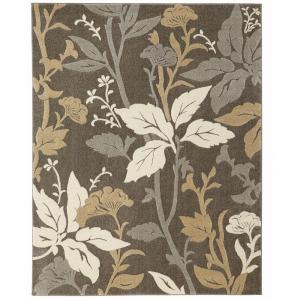 Home Decorators Collection Blooming Flowers Gray 7 ft. 10 inch x 9 ft. 10 inch Area Rug by Home Decorators Collection