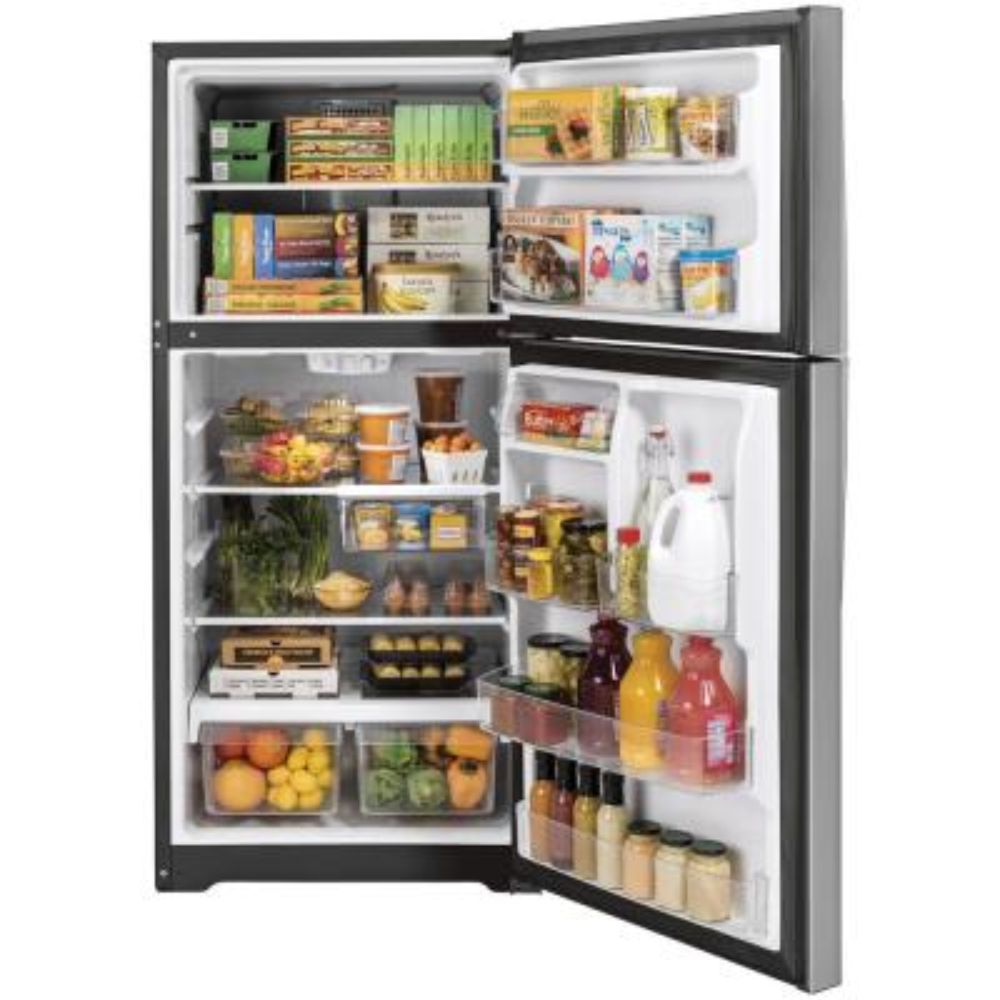 21.9 cu. ft. Top Freezer Refrigerator in Stainless Steel