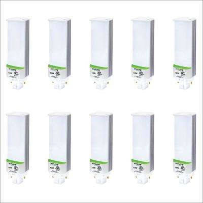 10W PL LED Lamp 18W/26W/32W CFL Equivalent 3500K 778 Lumens Ballast Compatible 120-277V UL Listed (10-Pack)