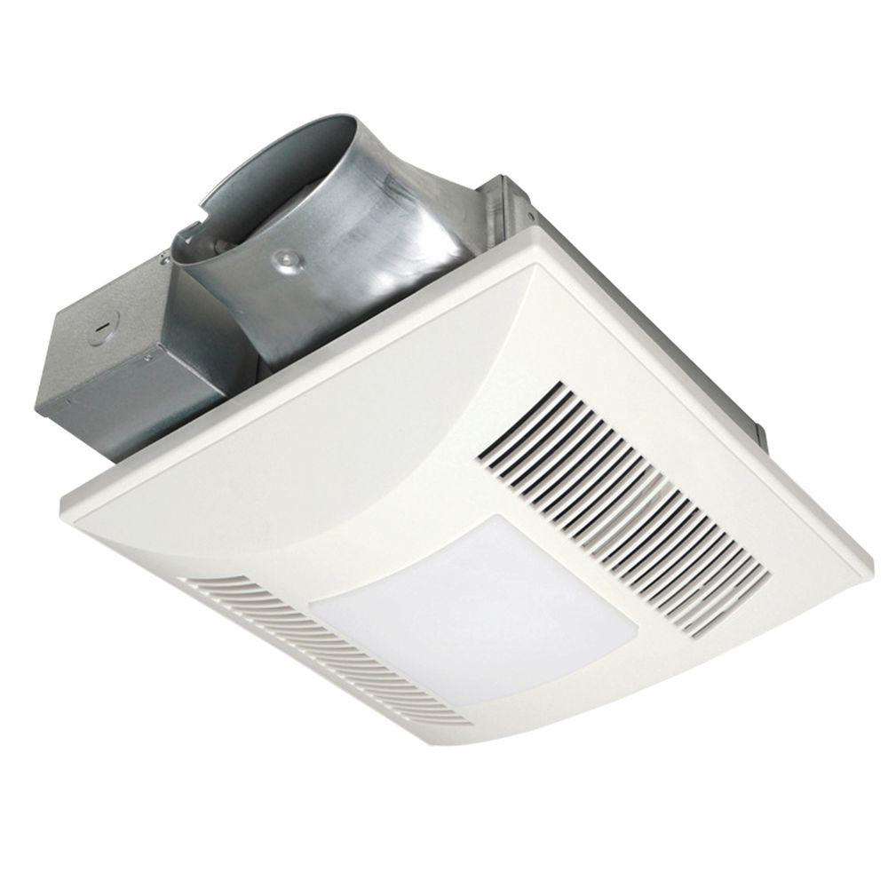 Panasonic Quiet Low Profile 100 Cfm Ceiling Bathroom Exhaust Fan With Fluorescent Light Fv