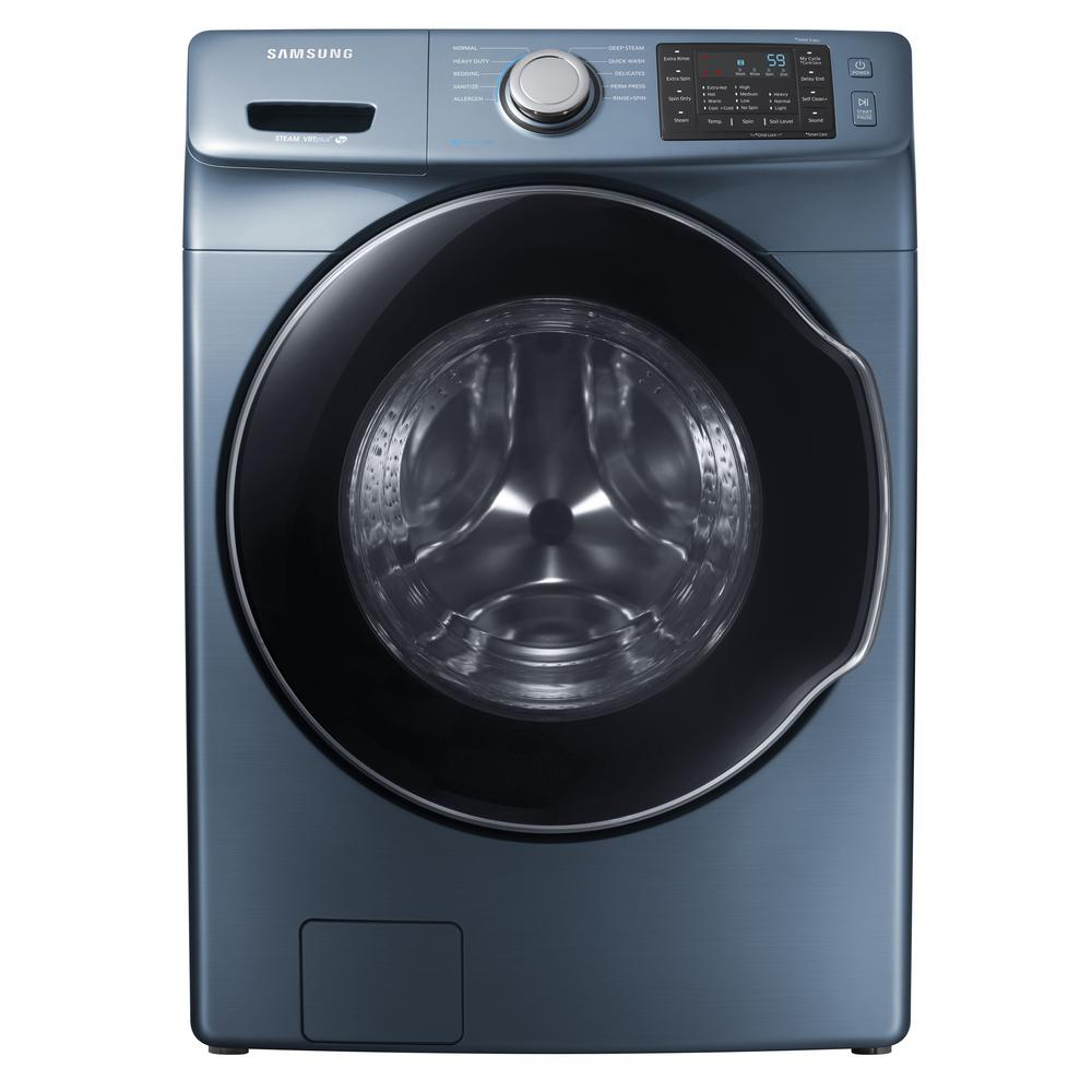 Samsung 4 5 Cu Ft High Efficiency Front Load Washer With Steam In Azure