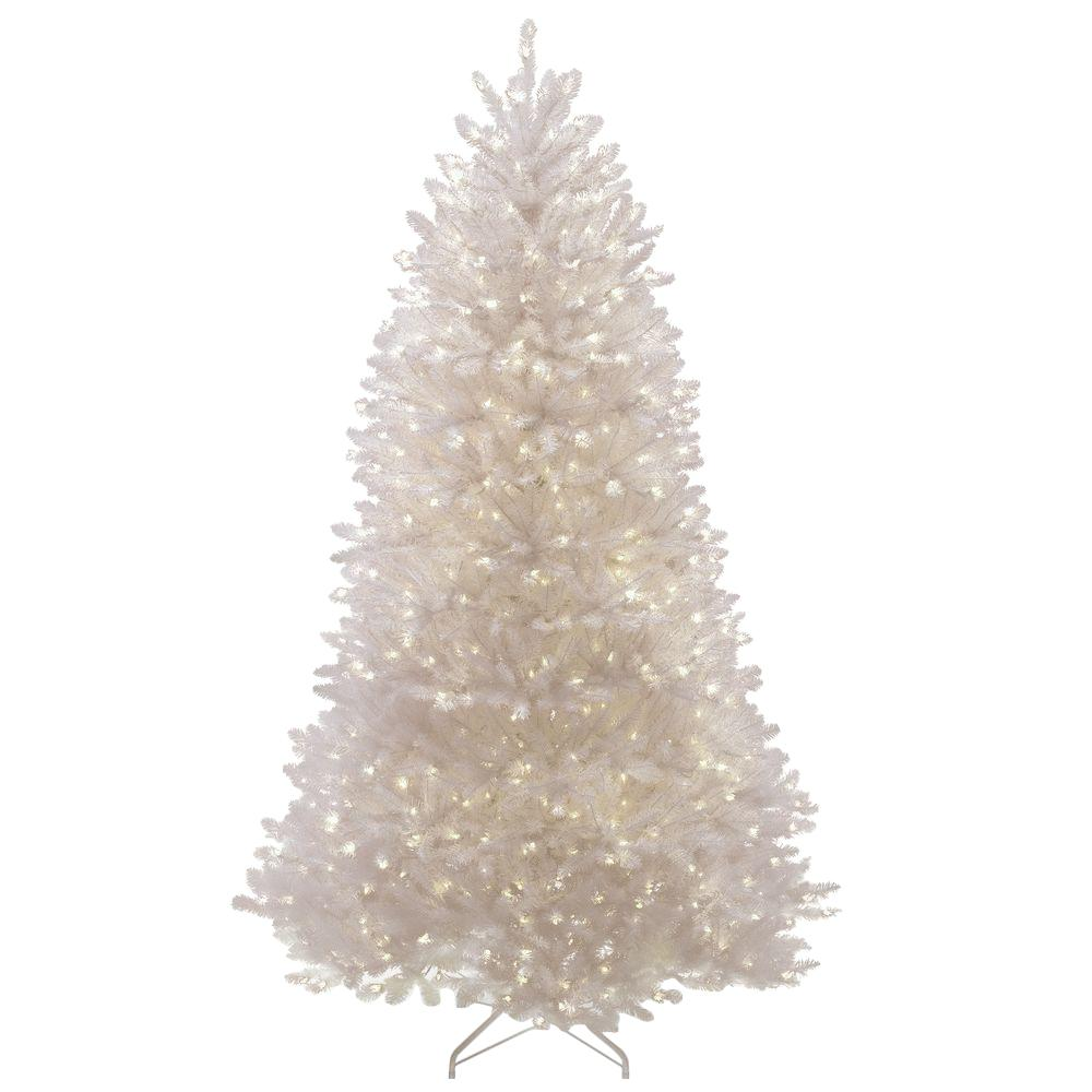 national tree company 75 ft dunhill white fir artificial christmas tree with clear lights