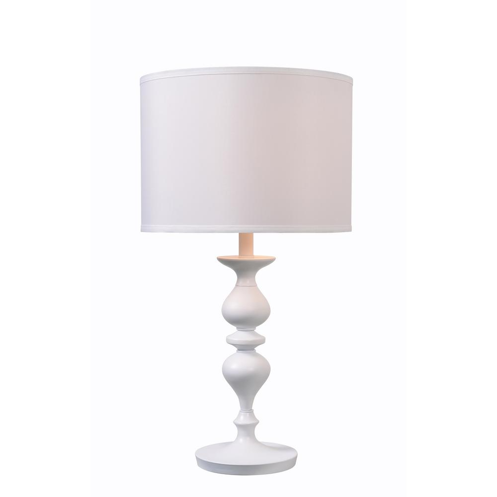 Hampton Bay Bolton 25 75 In Brushed Nickel Table Lamp