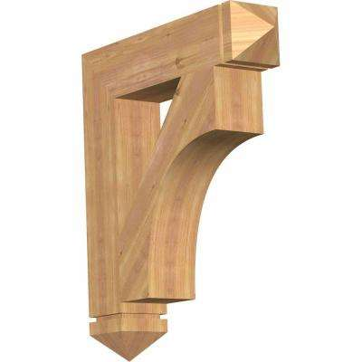 5.5 in. x 32 in. x 28 in. Western Red Cedar Westlake Arts and Crafts Smooth Bracket