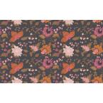 Sirpi Latrice Black Floral Wallpaper Sample
