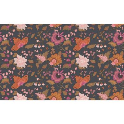 Latrice Black Floral Wallpaper Sample