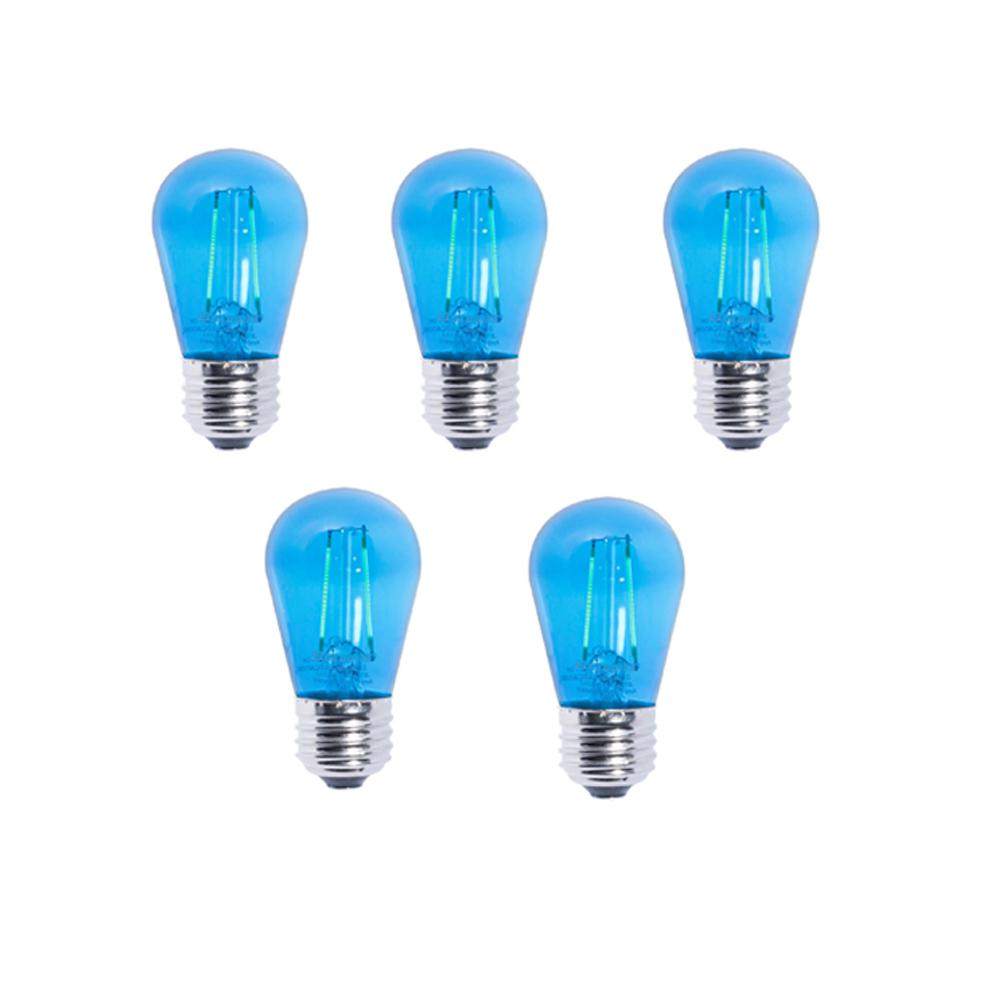 11W Equivalent S14 LED Blue Light Bulb (5-Pack)