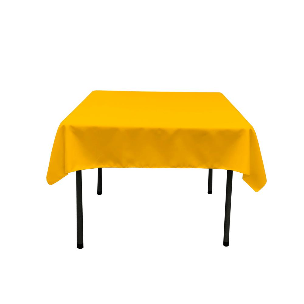 Dark Yellow Polyester Poplin Square Tablecloth