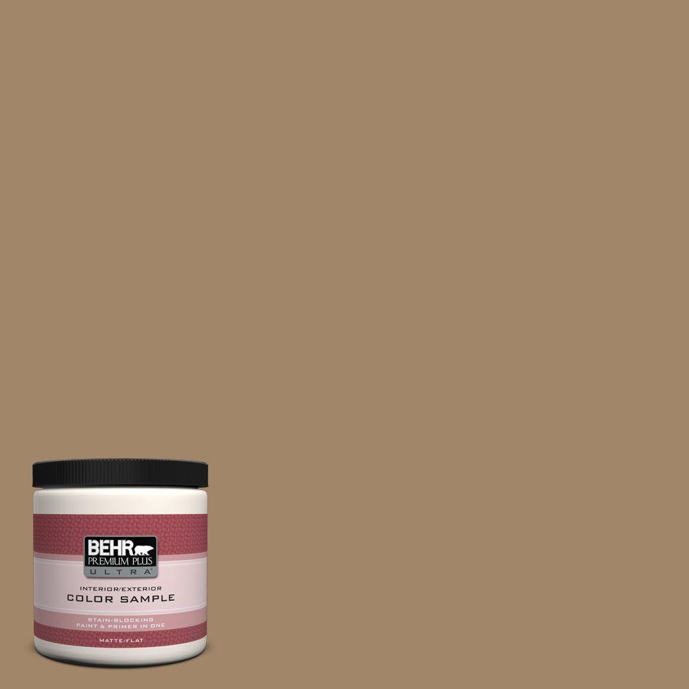 BEHR Premium Plus Ultra 8 oz. Home Decorators Collection Soft Bronze Interior/Exterior Paint Sample