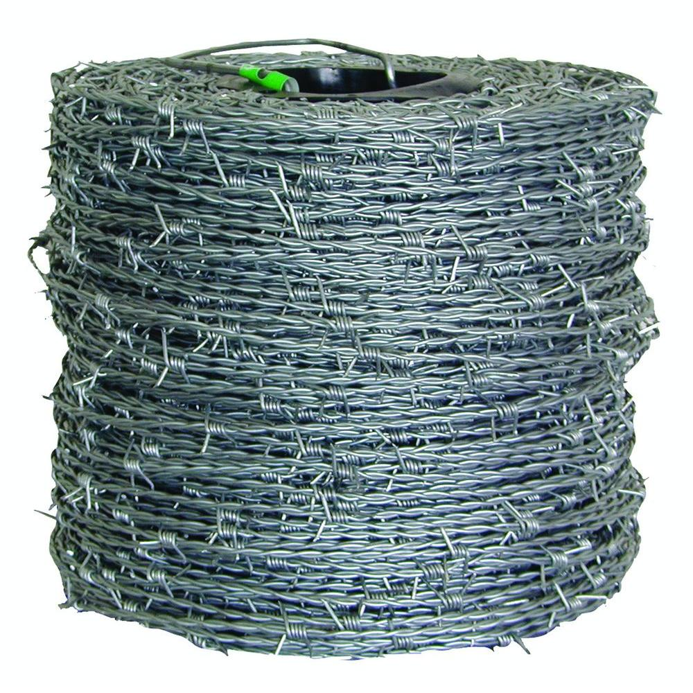 barbed wire fencing fencing the home depot Electrical Wiring Point 15 1 2 gauge 4 point high tensile