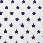 Company Kids by The Company Store Stars Cotton Percale Blue Tide Queen Duvet Cover