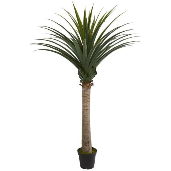Indoor 6.5 ft. Yucca Cane Artificial Plant