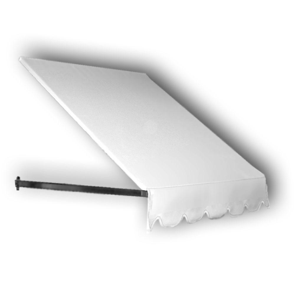 AWNTECH 5 ft. Dallas Retro Window/Entry Awning (56 in. H x 48 in. D) in Off-White