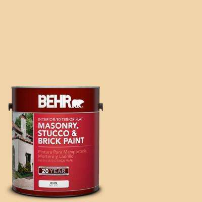 1 gal. #MS-27 Sunshine Flat Interior/Exterior Masonry, Stucco and Brick Paint