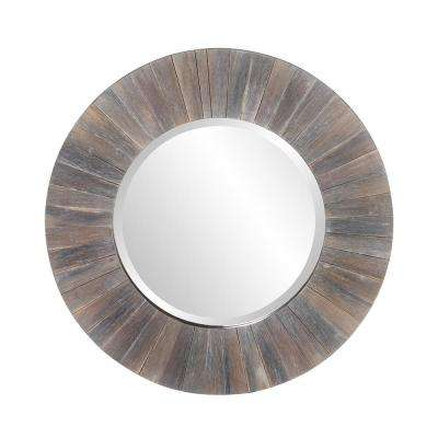 Henley Round Wood Decorative Mirror