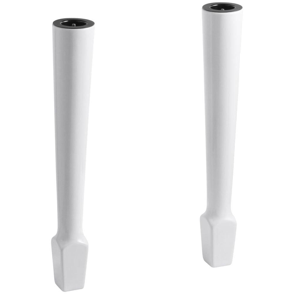 KOHLER Harborview Utility Sink Fireclay Legs In White (2 Pack)