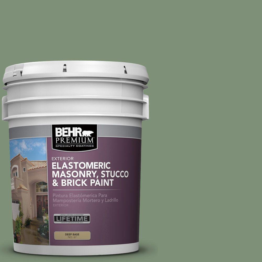 5 gal. #MS-60 Desert Sage Elastomeric Masonry, Stucco and Brick Exterior Paint
