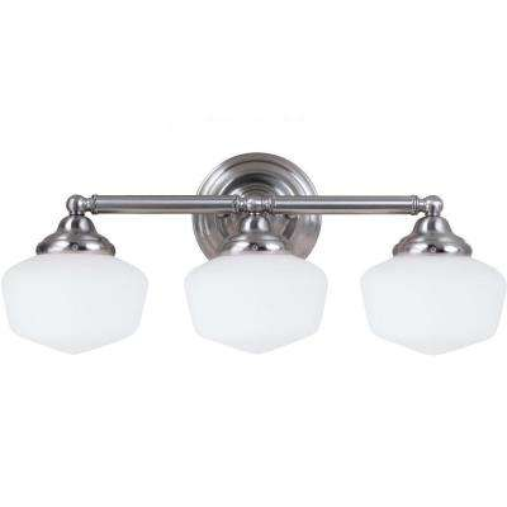 Academy 3-Light Brushed Nickel Vanity Light