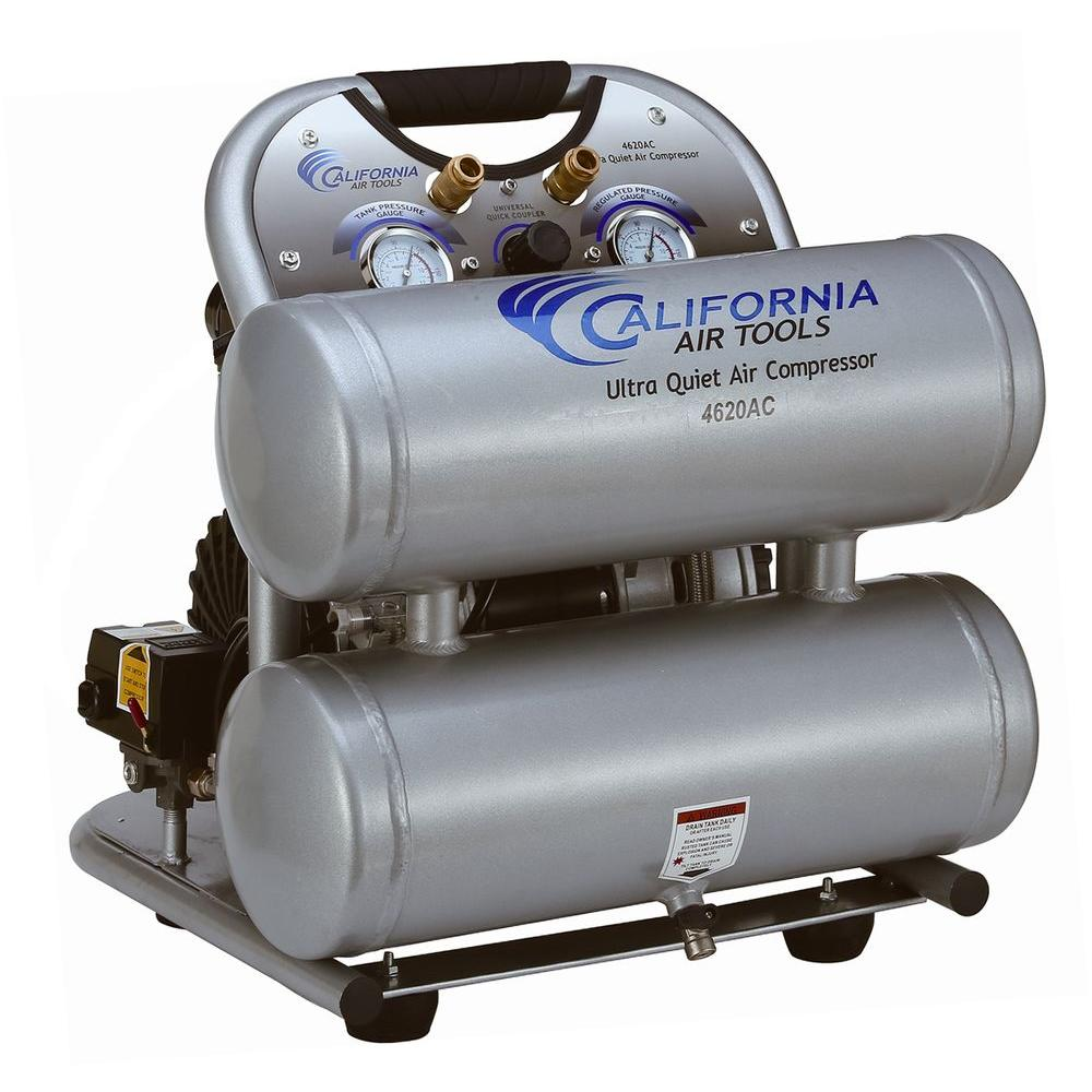 California Air Tools 4620AC Ultra Quiet and Oil-Free 2.0 Hp, 4.0 Gal ...