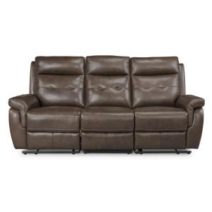 Cool Homestyles Lux Brown Leather Power Motion Reclining Sofa Alphanode Cool Chair Designs And Ideas Alphanodeonline