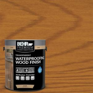 1 gal. #T-500 Natural Clear Transparent Waterproofing Exterior Wood Finish