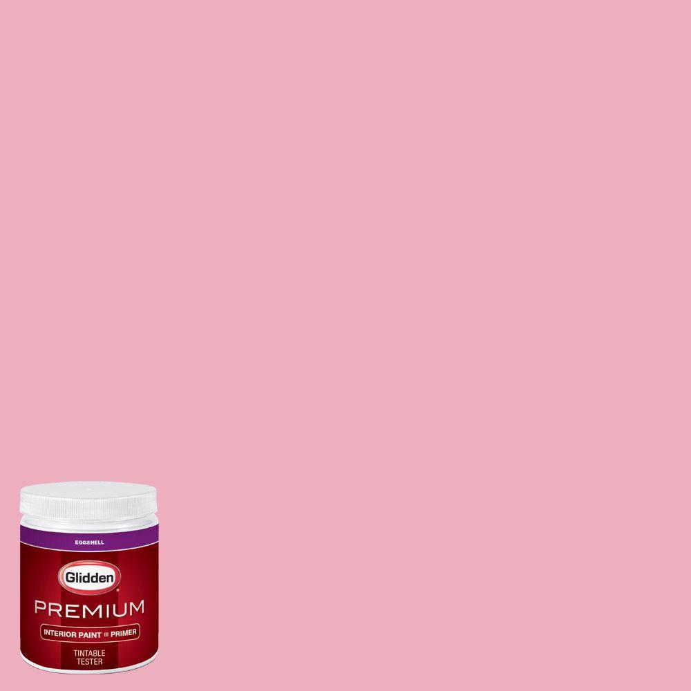 Glidden Premium 8 Oz Hdgr16 Pink Carnation Eggshell Interior Paint With Primer Tester Hdgr16p