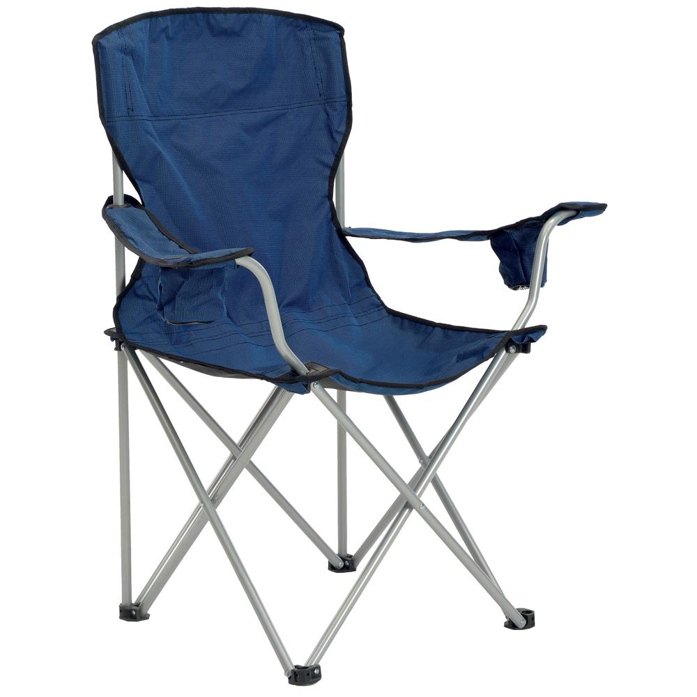 Quik Shade Navy/Black Deluxe Folding Chair