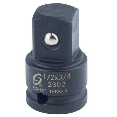 1/2 in. Female to 3/4 in. Male Impact Socket Adapter