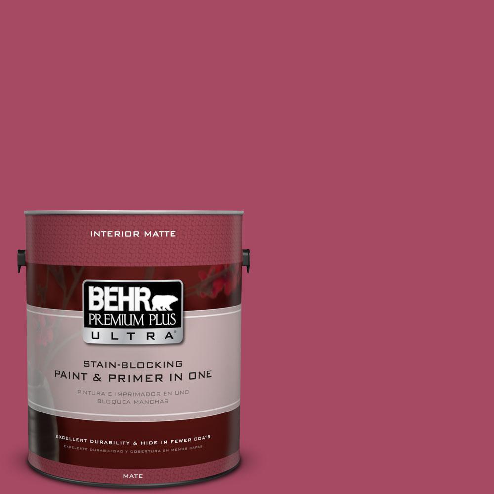 1 gal. #120D-5 Glazed Raspberry Flat/Matte Interior Paint