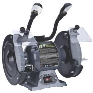 Click here to buy Genesis 8 inch Bench Grinder with Lights by Genesis.