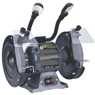 8 in. Bench Grinder with Lights