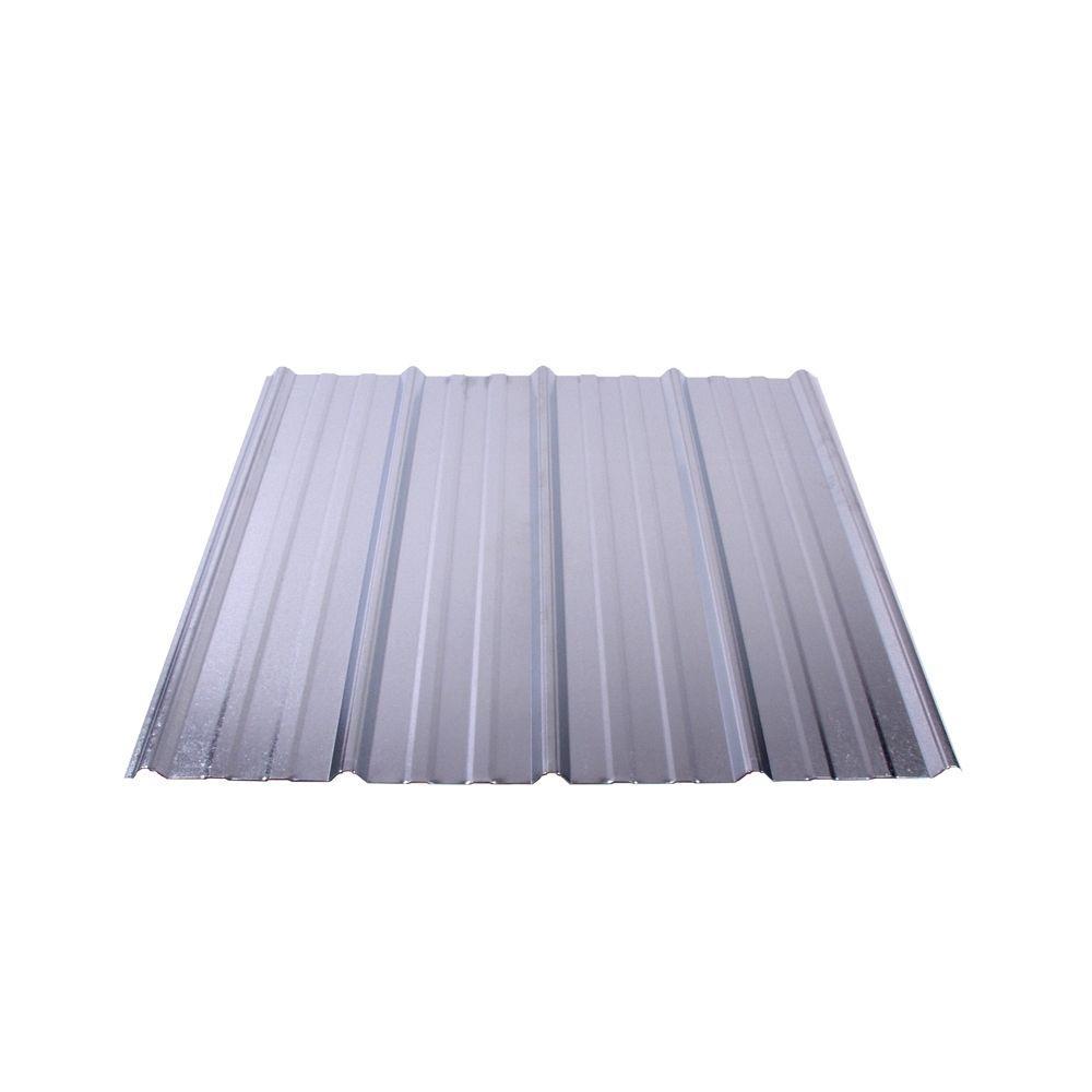 Shelterguard 12 ft. Exposed Fastener Galvanized Steel Roof Panel