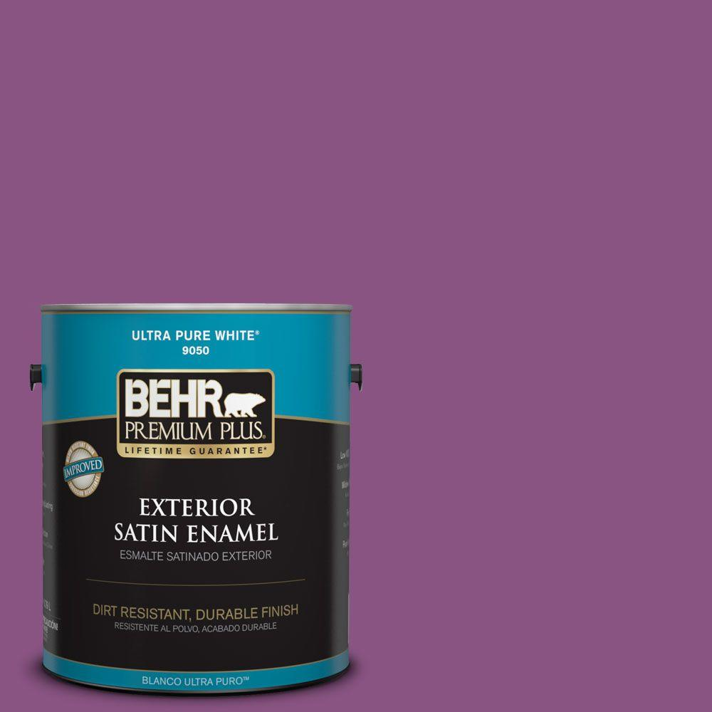 Home Decorators Collection 1-gal. #HDC-MD-07 Dynamic Magenta Satin Enamel