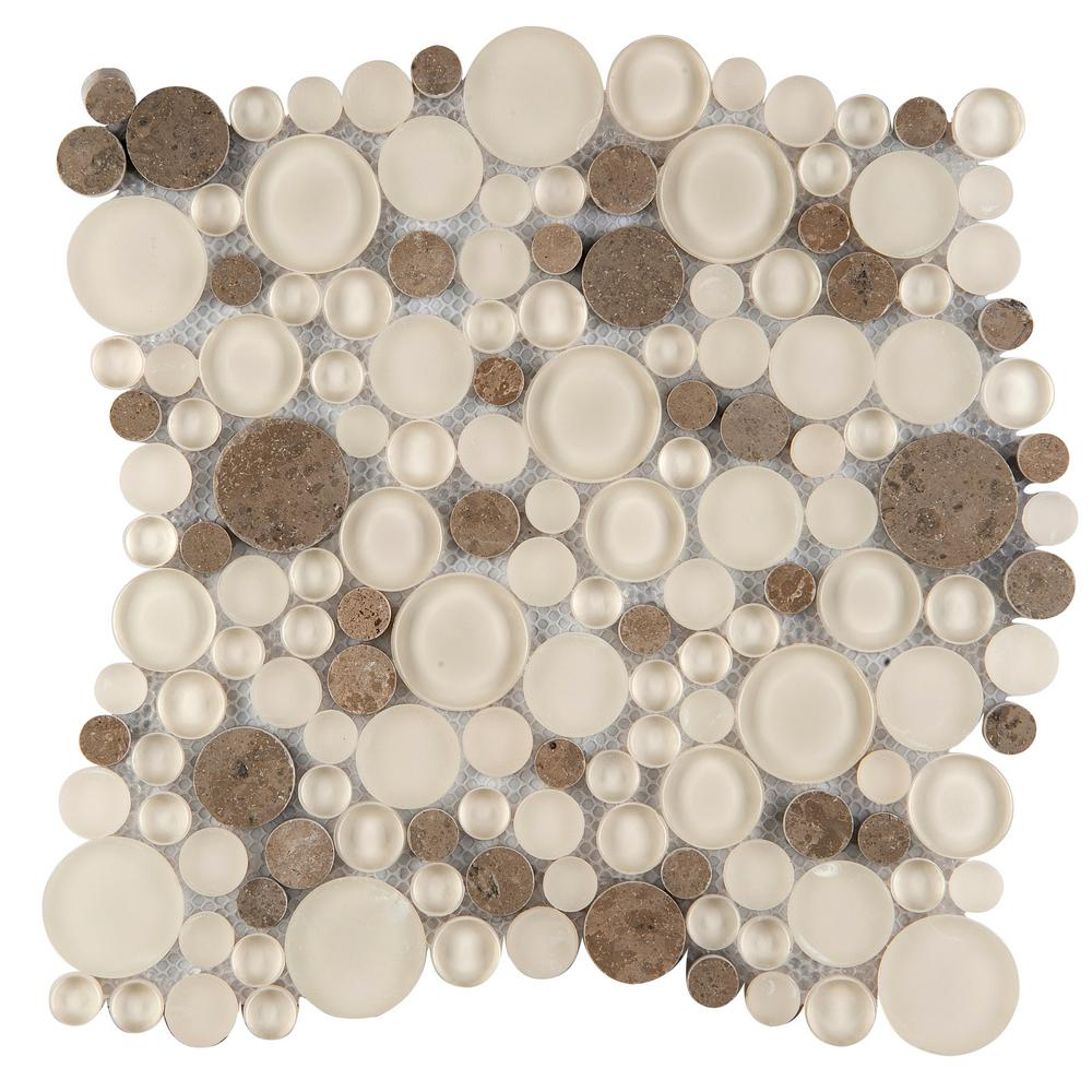 Emser Lucente Lido Gloss/Matte Mix 11.81 in. x 11.81 in. x 8mm Glass Mesh-Mounted Mosaic Tile