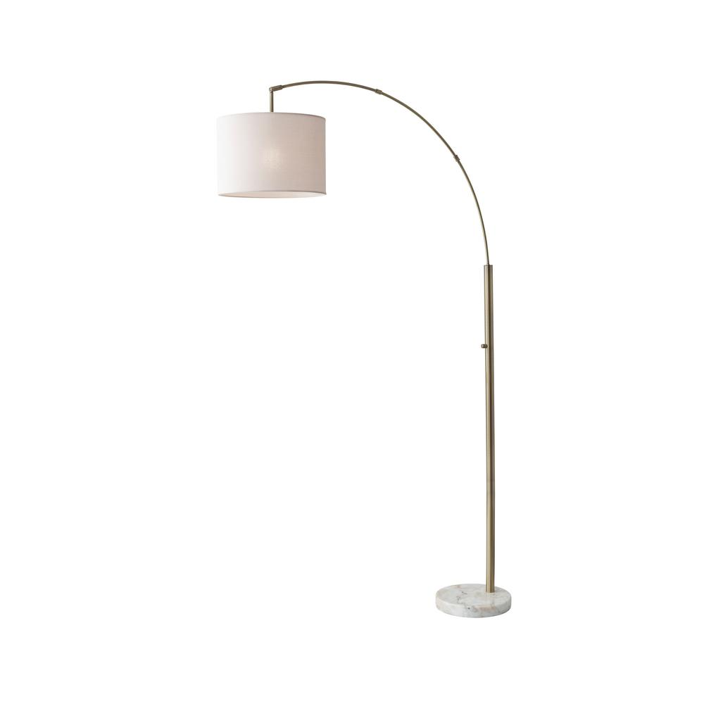 73.5 in. Antique Brass Bowery Arc Lamp