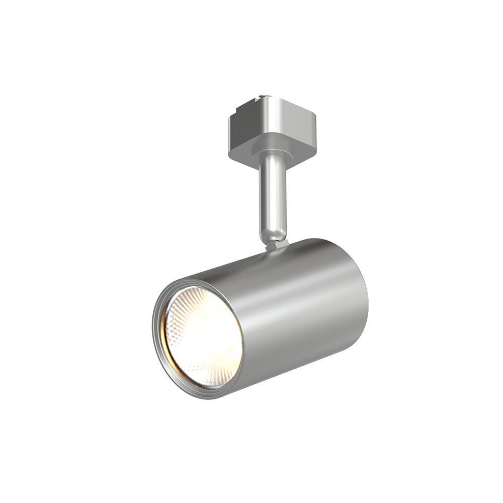 1-Light Brushed Nickel Integrated LED Mini-Cylinder Linear Track Lighting Head