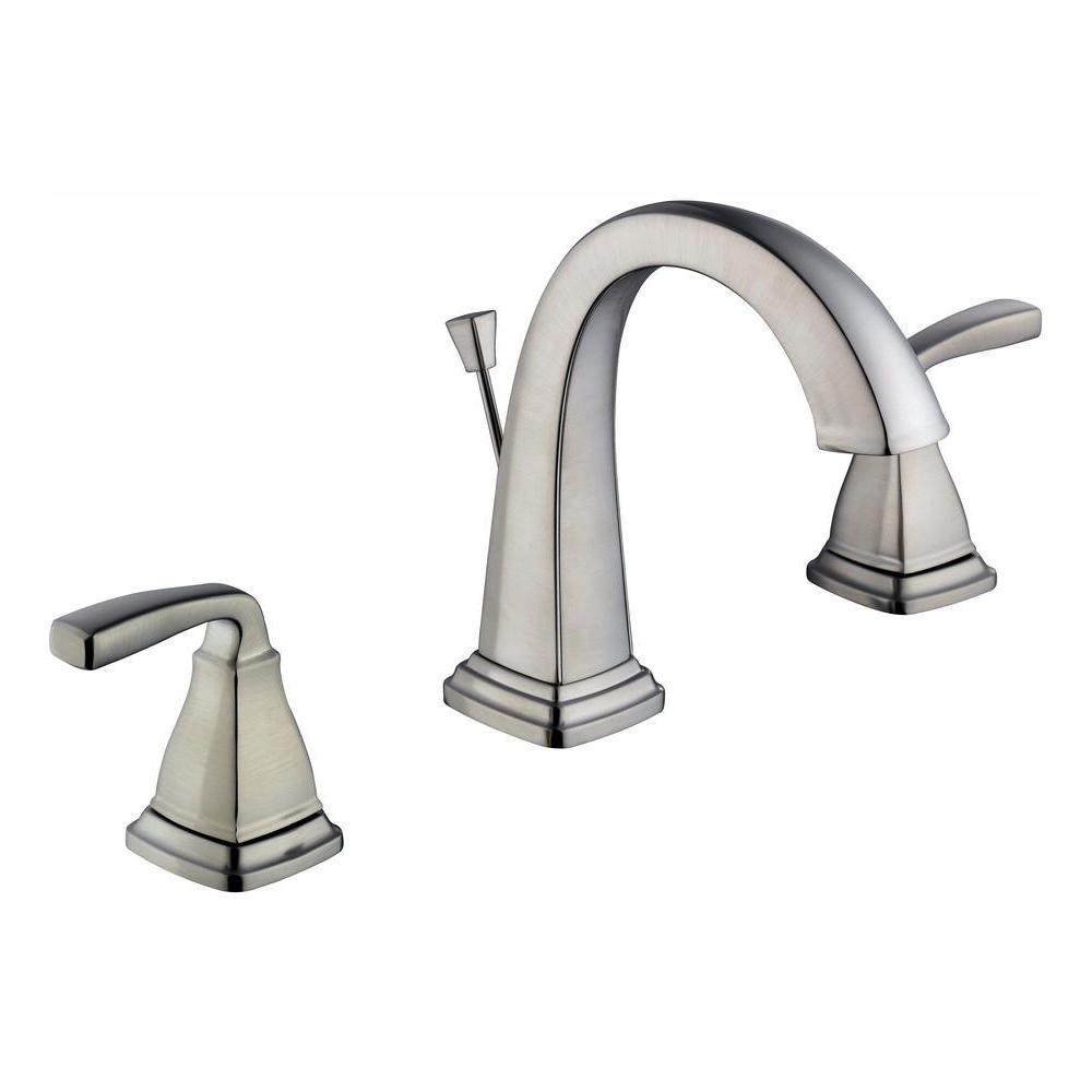 Glacier Bay Mason 8 in. Widespread 2-Handle High-Arc Bathroom Faucet in Brushed Nickel