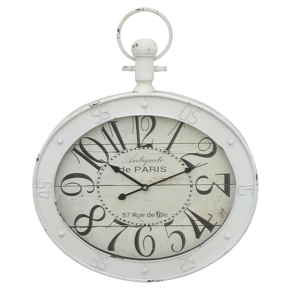 White Metal Wall Clock