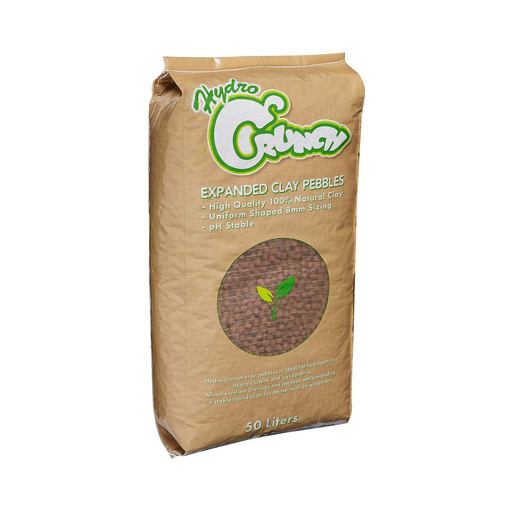 Hydro Crunch Expanded Clay Growing Media Hydroponic 50 Liter 8 mm Aggregate  Pebbles Pellets
