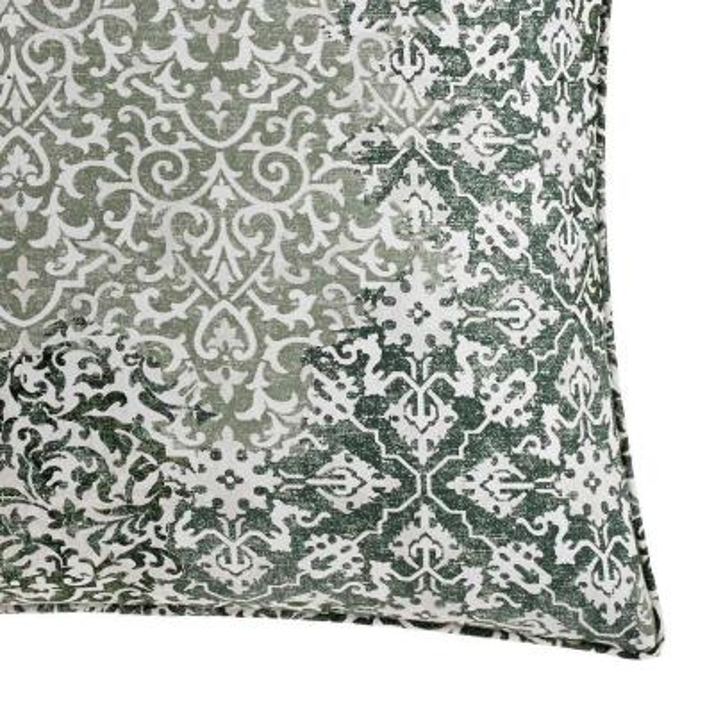 Abingdon Green Floral Cotton Euro Sham (Set of 2)