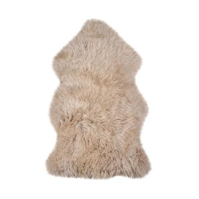 Josephine Taupe 2 ft. x 3 ft. Solid Sheepskin Area Rug