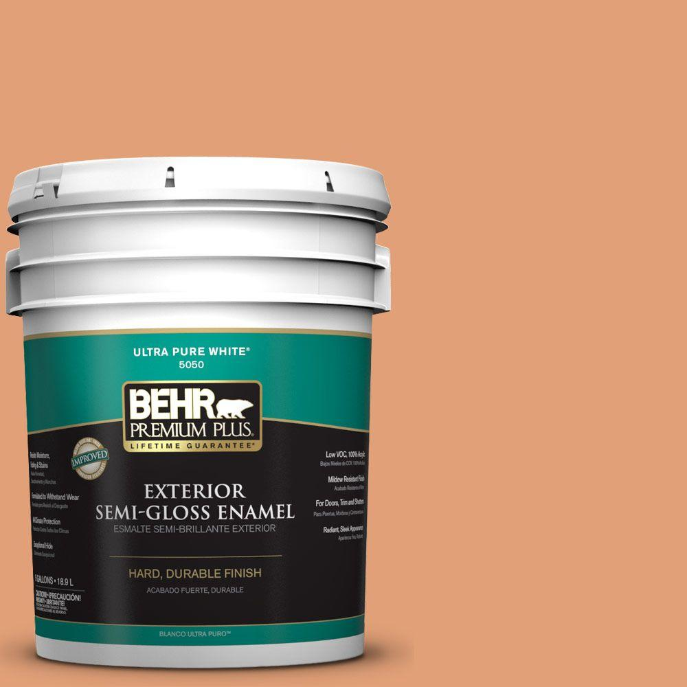 5-gal. #M220-5 Roasted Seeds Semi-Gloss Enamel Exterior Paint