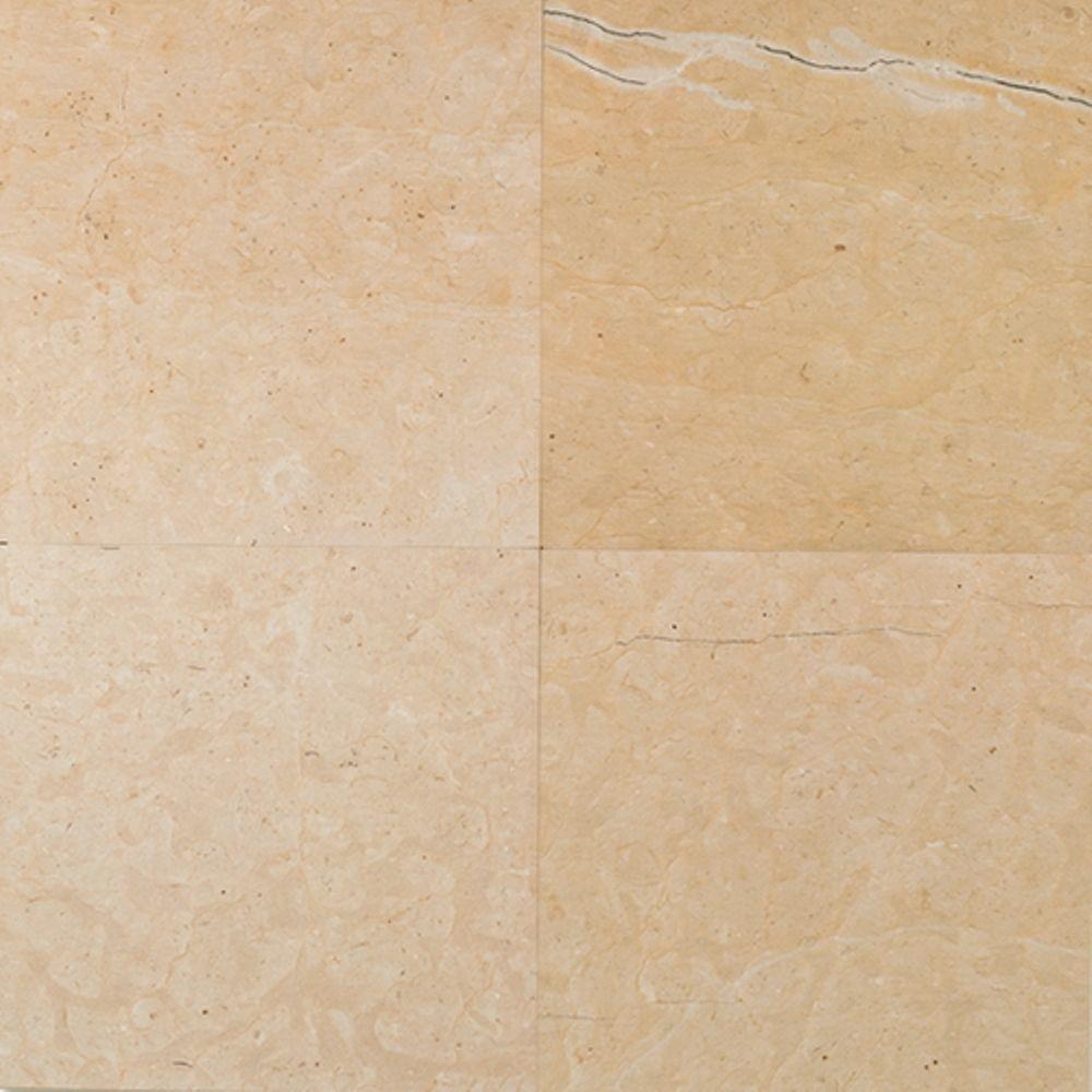 Daltile Natural Stone Collection Champagne Gold-Honed 12 in. x 12 in. Marble Floor and Wall Tile(10 sq. ft. / case)