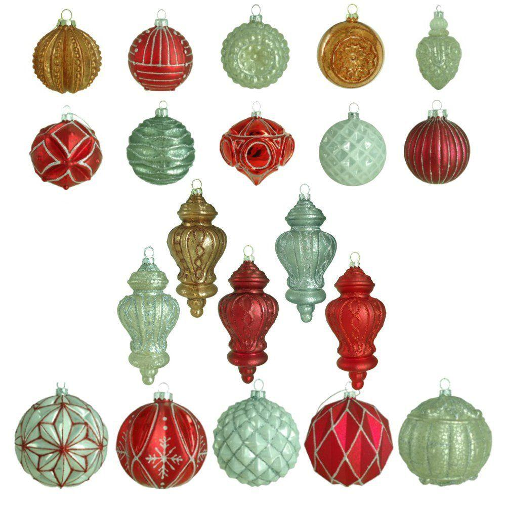 Martha stewart living winter tidings glass ornament