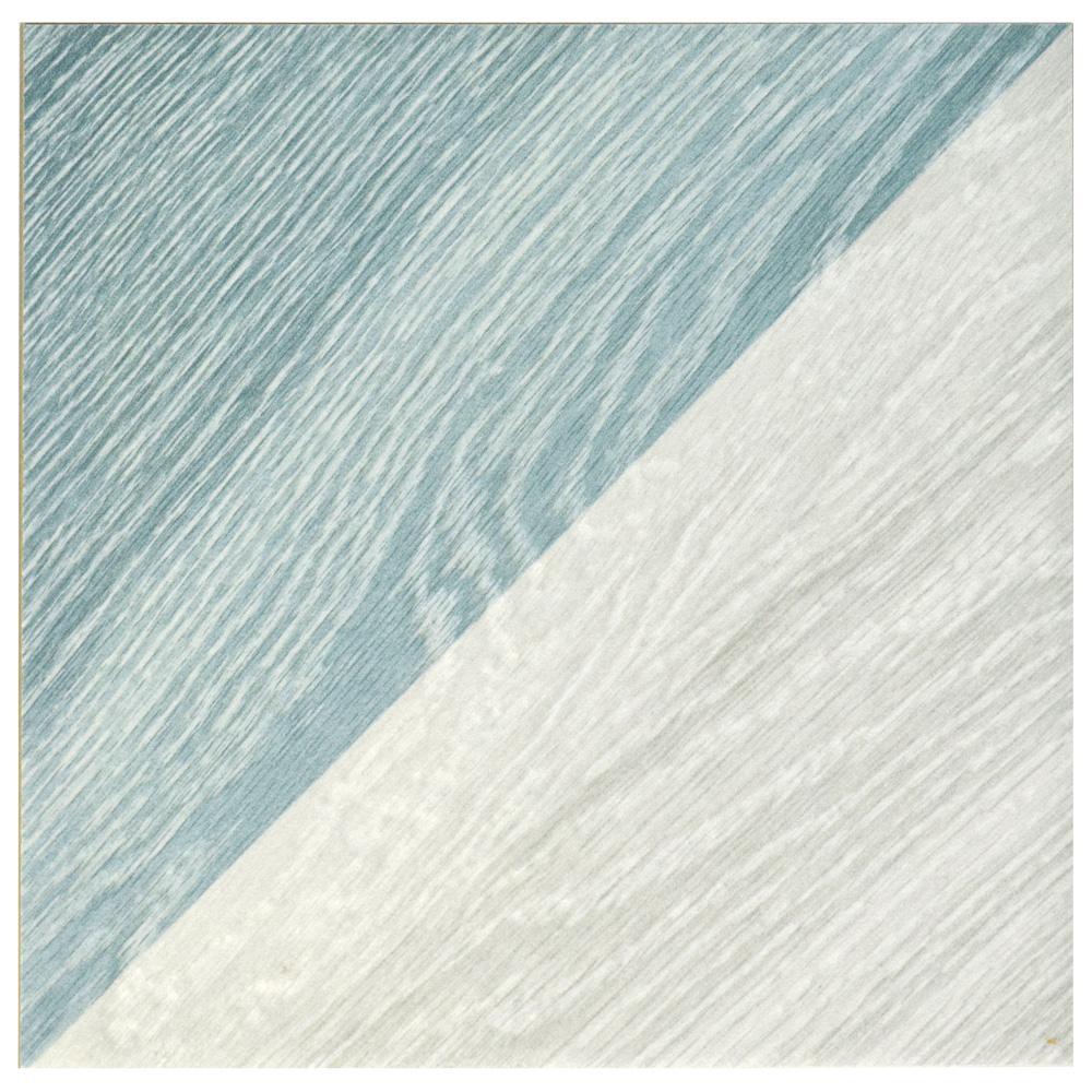 Merola Tile Merola Tile Taco Melange Blue 6-1/2 in. x 6-1/2 in. Porcelain Floor and Wall Tile (6.33 sq. ft. / case), Blue/ Grey/ and Beige / Low Sheen